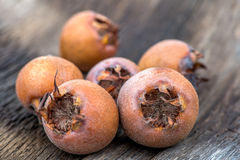 Healthy Medlars Stock Photo