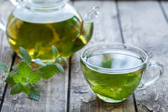 Healthy melissa tea natural organic aromatic drink Stock Images