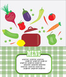Healthy menu card Royalty Free Stock Photography
