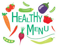 Healthy menu vector Royalty Free Stock Photography