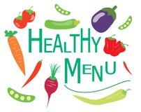 Healthy menu vector