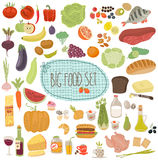Healthy menu, food illustrations collection Stock Photo