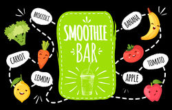 Healthy menu. smoothie bar. Royalty Free Stock Photo