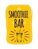Healthy menu. smoothie bar. Stock Image