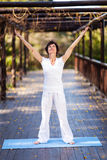 Healthy middle aged woman royalty free stock photos