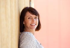 Healthy middle aged woman smiling Royalty Free Stock Photos
