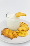 Healthy milk and cookies Stock Photos