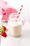 Healthy milkshake or drink with fruits Stock Photos