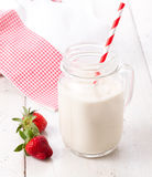 Healthy milkshake or drink with fruits Stock Photo