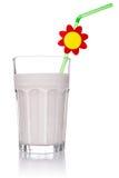 Healthy milkshake with straw Royalty Free Stock Photography