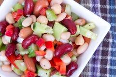 Healthy mixed bean salad bowl Royalty Free Stock Images