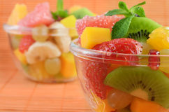 Healthy mixed fruit salad Stock Photo