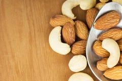 Healthy mixed nuts Royalty Free Stock Photo