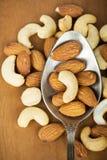 Healthy mixed nuts Stock Photos