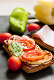 Healthy Morning Sandwich Royalty Free Stock Image