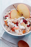 Healthy muesli with apple, dried fruit and nuts Royalty Free Stock Photo