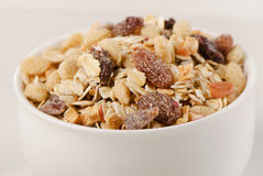 Healthy muesli  in  bowl Royalty Free Stock Photography