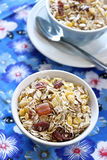 Healthy muesli in bowl Stock Image