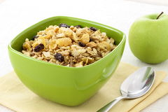 Healthy muesli breakfast Royalty Free Stock Image