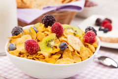 Healthy muesli breakfast Royalty Free Stock Photo
