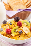 Healthy muesli breakfast Stock Photo