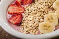Healthy muesli breakfast with yoghurt, muesli Stock Photo