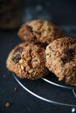 Healthy muesli cookies Stock Photos