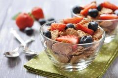 Healthy muesli and fresh berries Stock Image