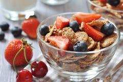 Healthy muesli and fresh berries Royalty Free Stock Photo