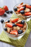 Healthy muesli and fresh berries Royalty Free Stock Photo