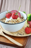 Healthy Muesli with Strawberries Stock Images