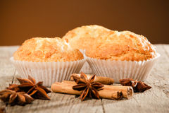 Healthy muffins royalty free stock image