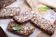 Healthy multigrain bread with oats and seeds Royalty Free Stock Photo