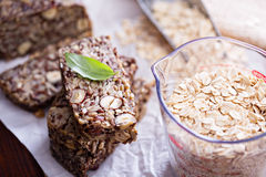 Healthy multigrain bread with oats and seeds Stock Image