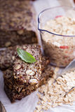 Healthy multigrain bread with oats and seeds Stock Photo
