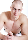 Healthy muscular young man. Royalty Free Stock Images