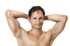 Healthy muscular young man. Royalty Free Stock Image