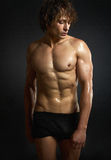 Healthy muscular young man Royalty Free Stock Photos