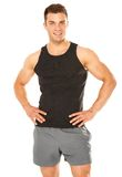 Healthy muscular young man isolated on white Stock Photos