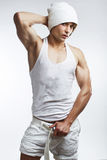 Healthy muscular young man Stock Photography