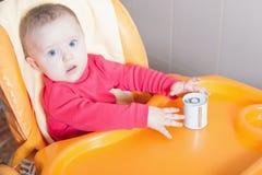 Healthy and natural baby food, Jar Royalty Free Stock Photos