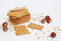 Healthy Natural Diet and Fitness Wholegrain Biscuits. Oats and Integral Snacks. Stock Photo