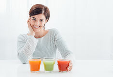 Healthy natural drinks Stock Photos