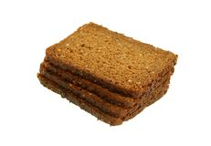 Healthy Not Sifted Bread With Sunflower Seeds Isol Stock Image
