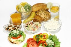 Healthy nutrition. And diet on white Stock Images