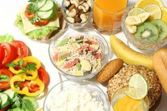 Healthy nutrition. And diet on white Stock Photo