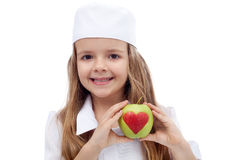 Healthy nutrition concept. Eat an apple a day royalty free stock photos