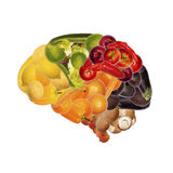 Healthy nutrition is good for brain. Healthy nutrition is important for brain Stock Photography