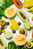 Healthy Nutrition. Organic Vegetables, Fruits. Food Ingredients Royalty Free Stock Images