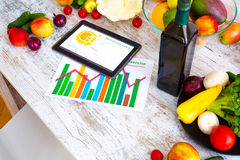 Healthy nutrition and Software guidance Stock Image